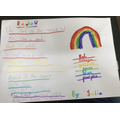 Julia's amazing colour poem! Well done!