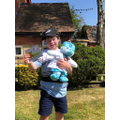Alfie with Dr Blue Bear
