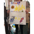 Ruby's fantastic circus poster