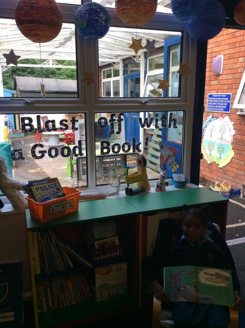 'Blast off with a good book' in Class2