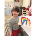 Izzy's beautiful rainbow