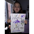 Luigina's circus poster- well done!