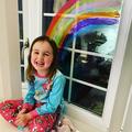 Orla's beautiful rainbow- Happy Birthday Orla!