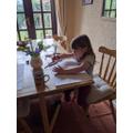Harriet working hard