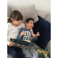 Jemima reading to her brother Joseph
