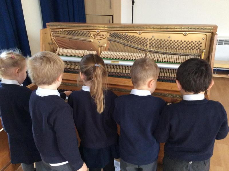 Looking at how the piano makes a sound