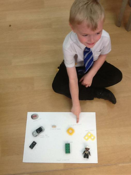 Y1 created maps of the classroom.