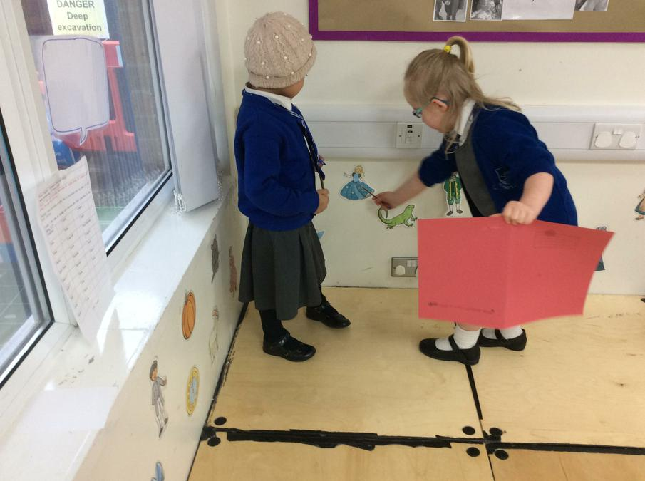Acting out Cinderella.