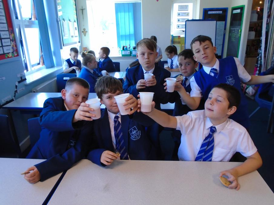 Toasting our newly appointed Head Boy/Head Girl