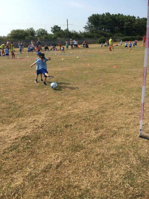 Football skills.