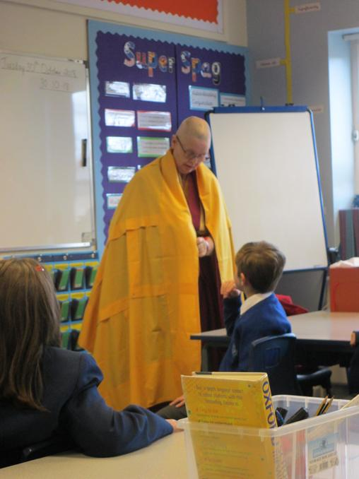 The Buddhist Nun talking to us about her clothing