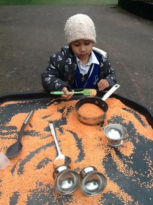 Making tasty soup.
