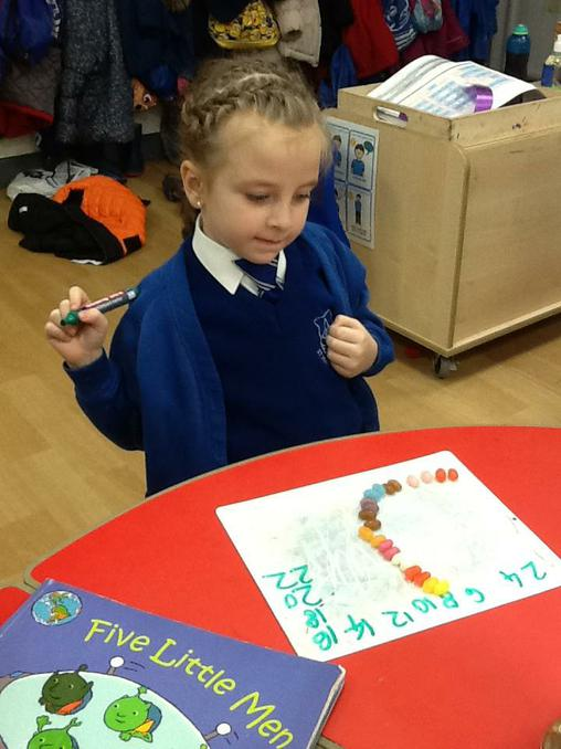 Counting magic beans in multiples of 2.