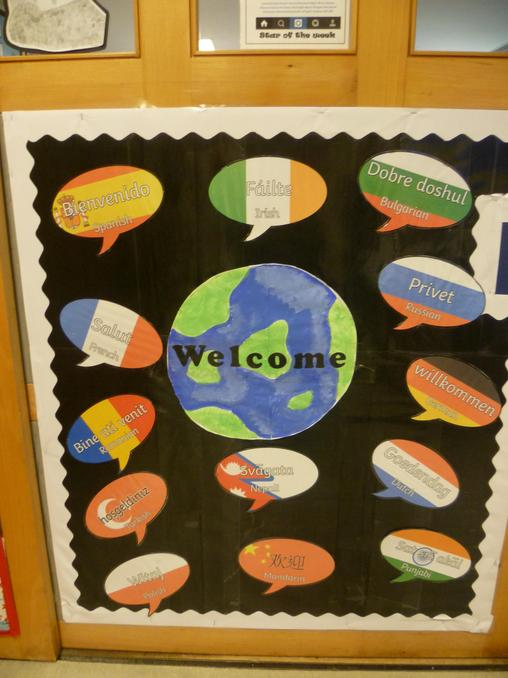 A warm welcome in many languages.