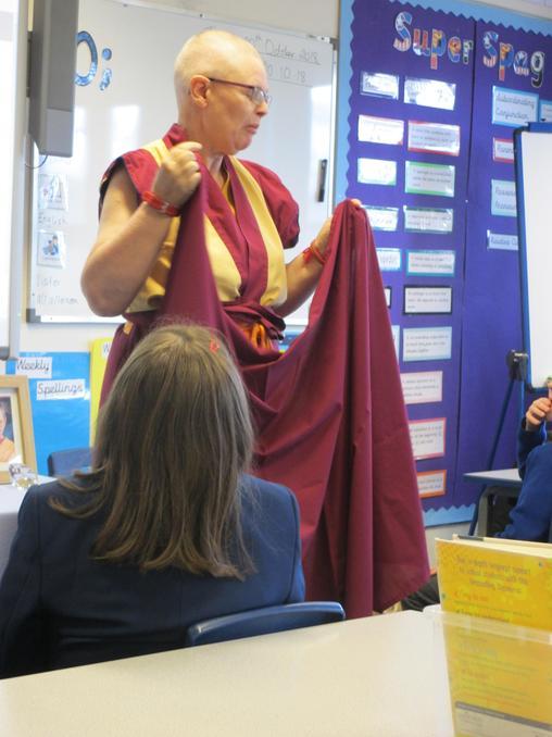 The Buddhist Nun sharing her faith with our class