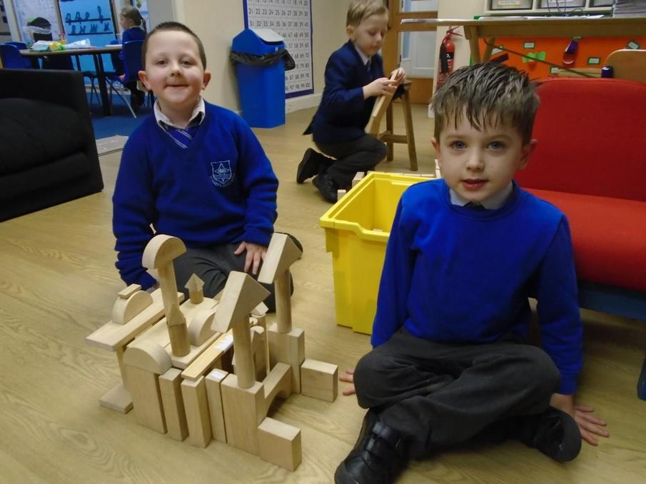 Ben and Dominic built their own Temple out of wood.