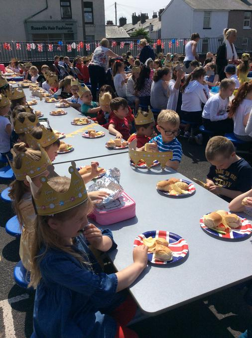 Our school Royal Wedding street party.
