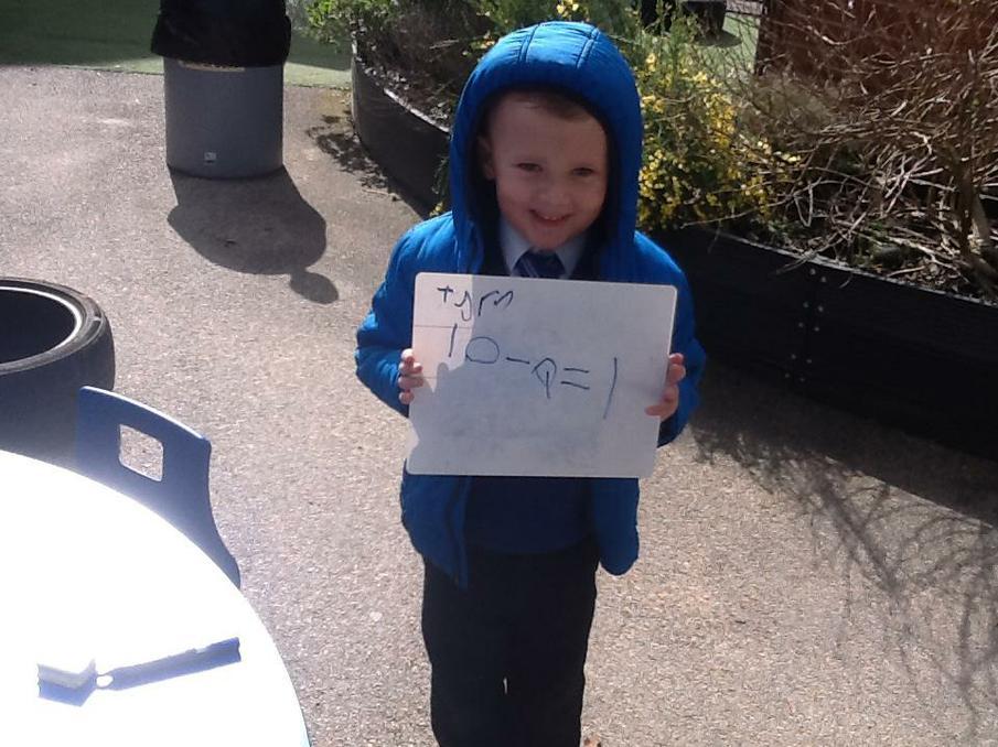 We wrote number sentences.