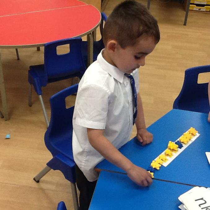 Identifying and continuing patterns.