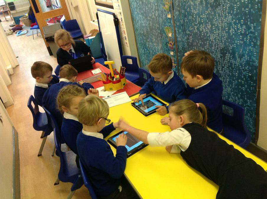 Year 1 & 2 following instructions to create shapes