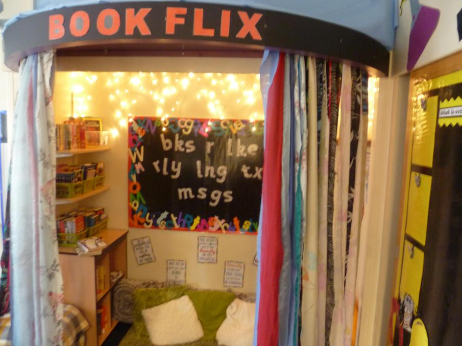 Our fabulous, cosy reading den.