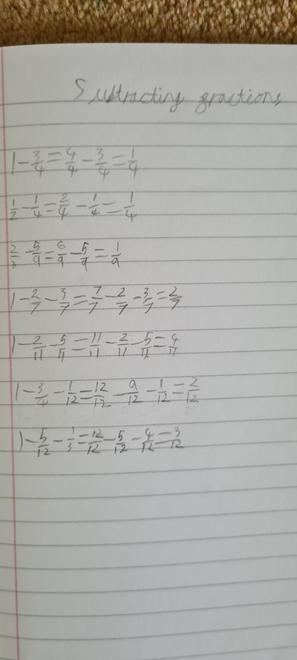 Sam's fractions
