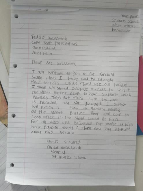 Delilah's persuasive letter