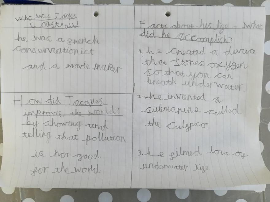 Eddie's Cousteau biography notes
