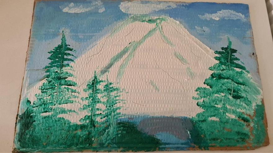 Lucas's mountain painting