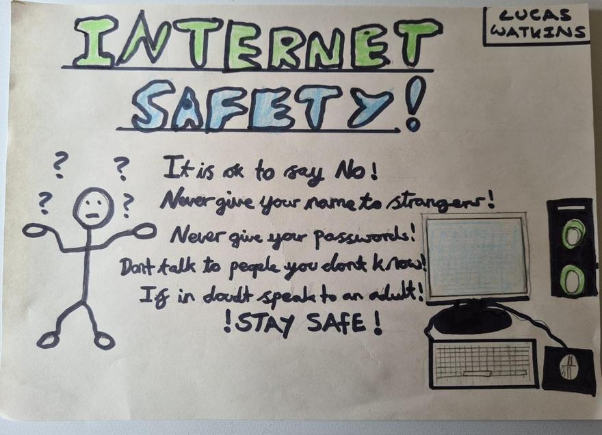 LLucas's Internet safety poster