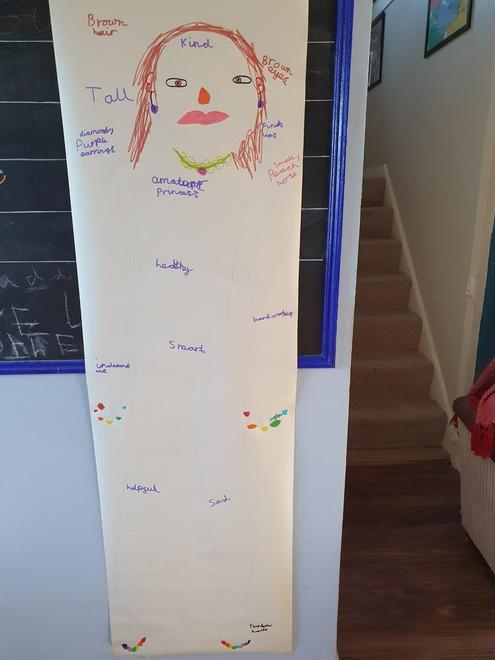Louise's giant gingerbread character plan