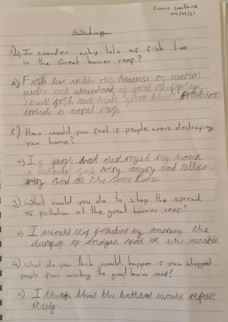 Lucas's open ended questions 2