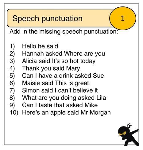 Speech punctuation