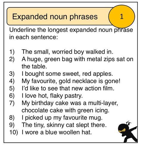 Expanded noun phrases