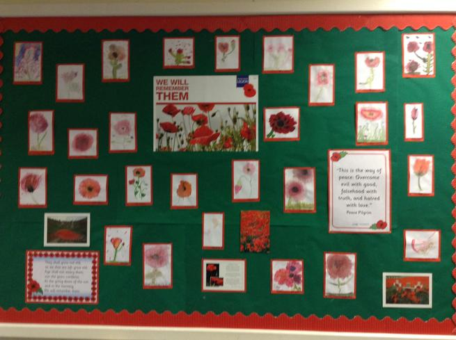 Year 4 Watercolour poppies