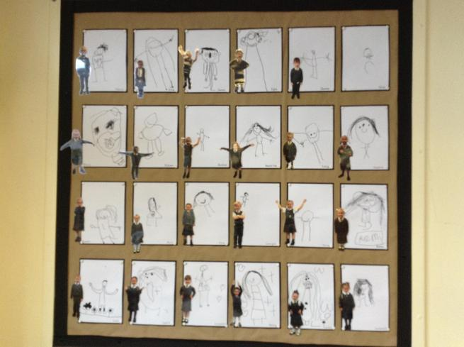 Reception - self-portraits in pencil