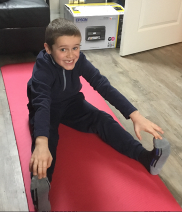 Stretching using the mat