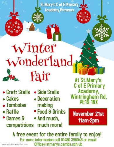 Sunday 21st November - 11am -2pm Come join us for a fun filled day for all the family!