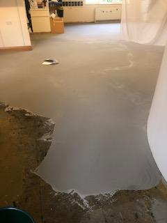 Day 2 - Fill in the cracks and level the floor