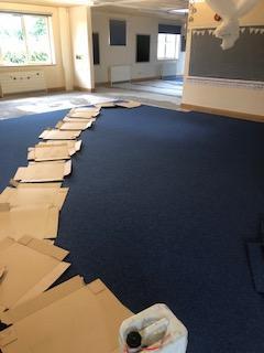 EYFS Carpets going down already!