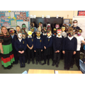 Our finished masks.