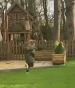 Mila, walking in garden