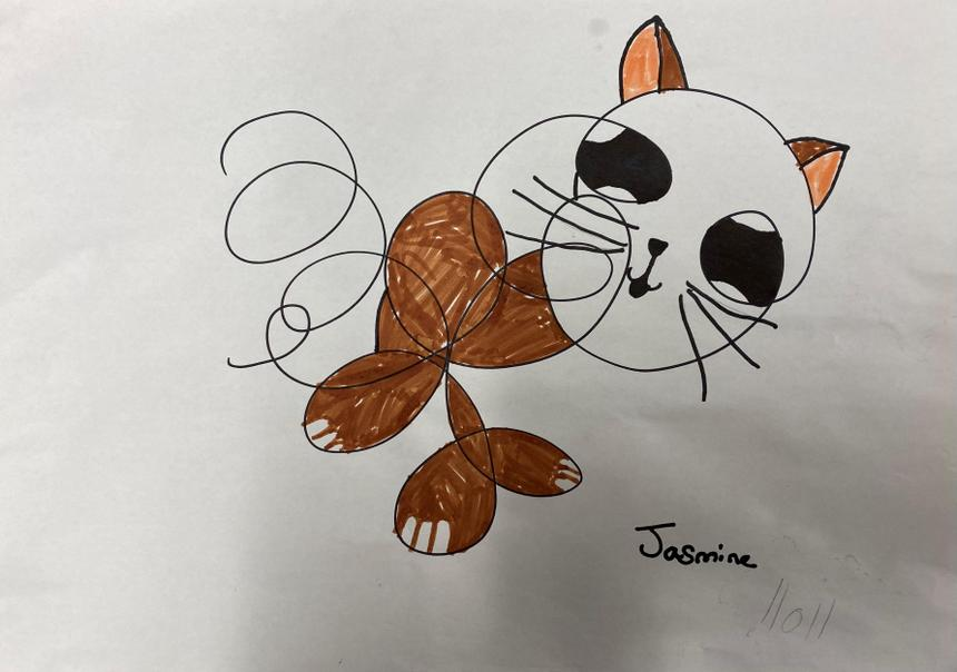Jasmine's Squiggle Cat