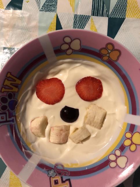 Sophie's yoghurt artwork