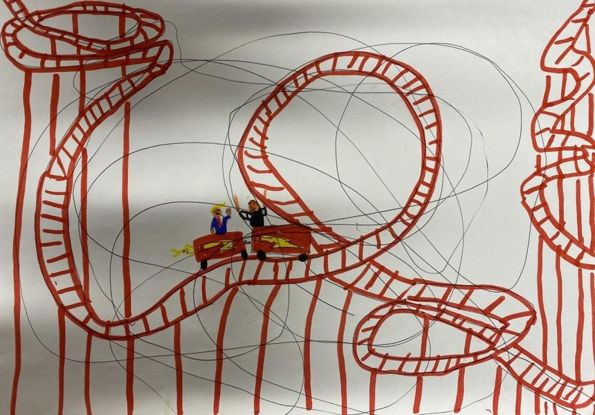 Zach's Squiggle 'life is a rollercoaster'