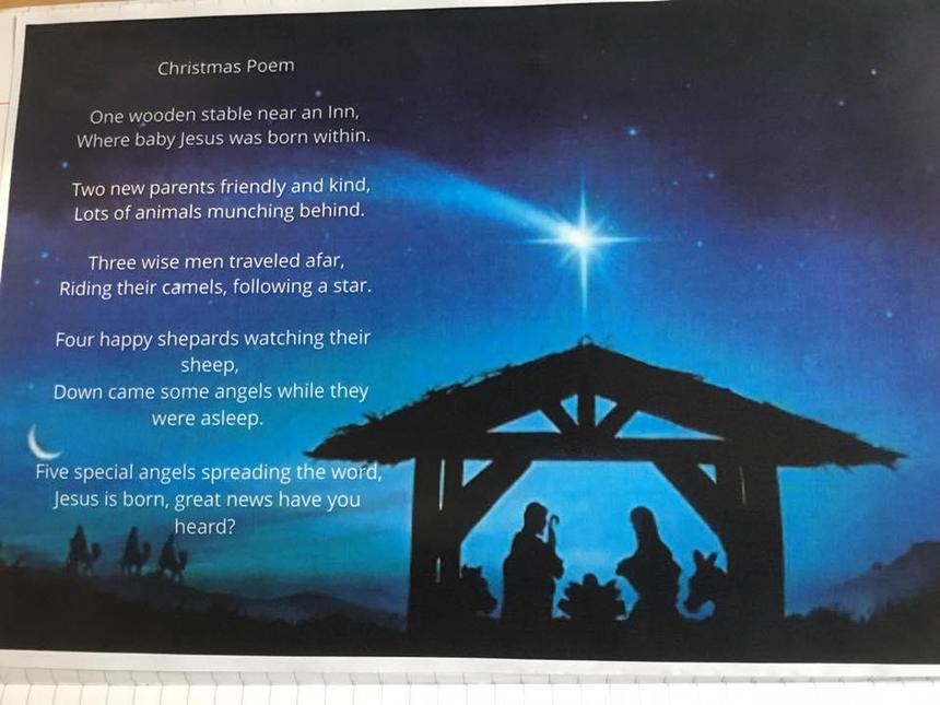 Class 5 - Freddie's beautiful Christmas Poem