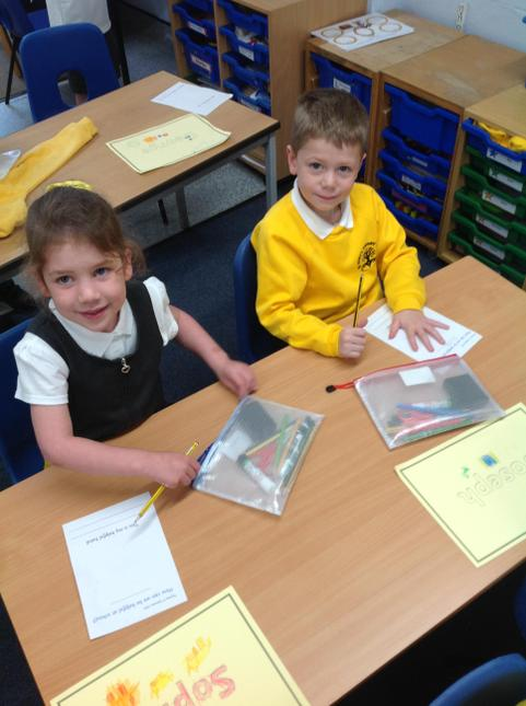 Our 'helping hands' activity to remind us to put up our hand.
