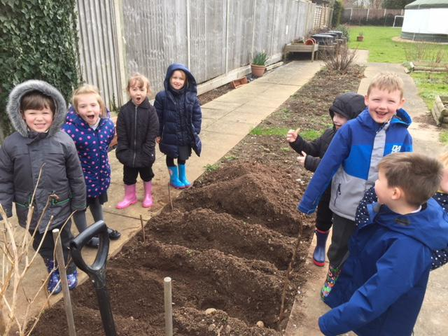 We have just planted our potatoes.