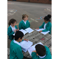 We shared our stories with a partner from the other Year 4 class