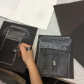Art - Ancient Greek columns in chalk and charcoal.